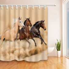 71x71 inch Horse Waterproof Shower Curtain Set Country Western Bathroom Decor