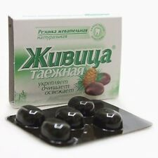 "NATURAL CHEWING GUM ""SIBERIAN GUM""  5 BLISTER CARDS - 25 pcs."
