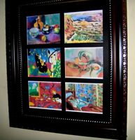 MATISSE     6 SMALL REPRODUCTION PAINTINGS IN A MAT (Buy FRAMED or UNFRAMED)