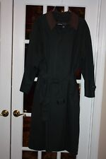 Kenneth Barnard Mens All Weather Trench/Overcoat with removable lining Sz 40 Reg