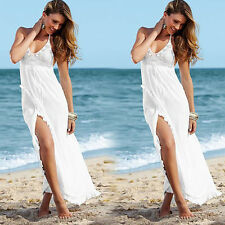 Short Spaghetti Beach Chiffon Wedding Dress Bridal Gown Custom Size 2 4 6 8 10+