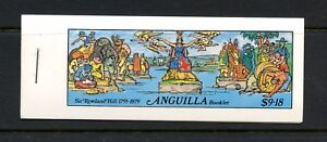 L255  Anguilla 1979   stamps on stamps Rowland Hill COMPLETE BOOKLET  MNH