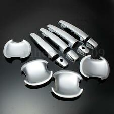 12x Door Handle Cover Bowls Trim Chrome For TOYOTA Corolla Highlander Camry RAV4
