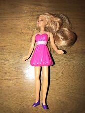 "McDonald's 2008 Mattel Pink Dress Barbie Strawberry Blonde Hair 5"" Buy 3 Get (1)"