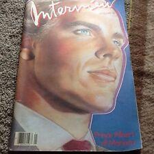 Prince Albert of Monaco Interview magazine. January 1986