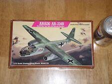 WW2, German ARADO AR-234B Twin Jet Bomber, Plastic Model Kit, Scale 1:72