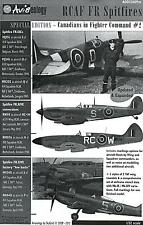 Aviaeology Decals 1/32 ROYAL CANADIAN AIR FORCE SPITFIRES IN FIGHTER COMMAND