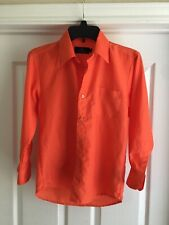 Vittorino Button Front Shirt Size Medium 10-12 Orange