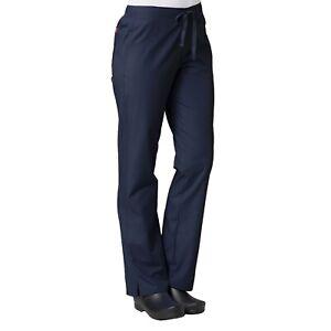 Maevn Scrub RED PANDA Women's Straight Leg Half Elastic Waistband Pant 9716