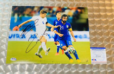 STEVEN GERRARD & ANDREA PIRLO SIGNED 11x14 PHOTO PSA/DNA CERTIFIED ENGLAND ITALY