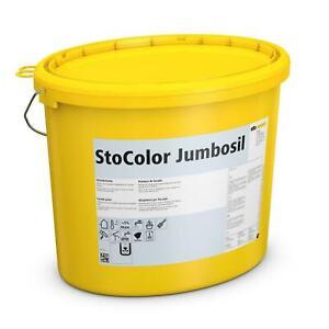 StoColor Jumbosil weiss 15ltr 3 Eimer Fassadenfarbe, Siliconharzfarbe