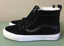 Vans SK8-Hi MTE Faux Fur Lined Black White Mens Sz 7/ Women's Sz 8.5 Sneakers