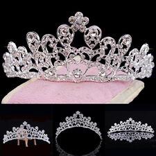 Mujer Estrás Corona Princesa Novia Tiara Diadema Boda Tocados BONITO