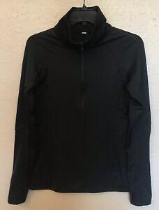 Under Armour Womens Black 1/2 Zip Shirt Sz S