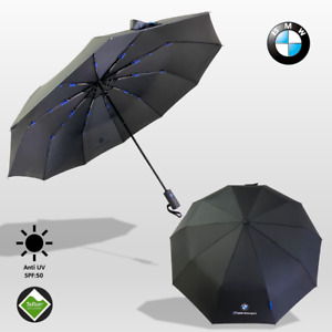 Premium Quality BMW Umbrella Folding Automatic Genuine Designer Black Brolly