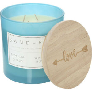 Mothers Day Gift  Extra Large SAND And FOG Tropical Citrus Scented Candle 708g