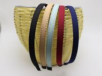 5 Mixed Color Fabric Covered Metal Headband Hair Band 10mm Hair Accessories DIY