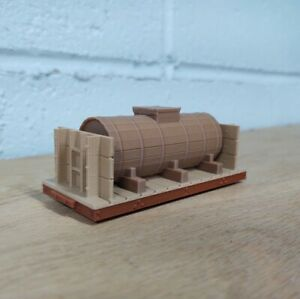 On30 Scale 14ft WOOD TANK CAR kit. Brown/Oxide. No trucks/couplers. 3D Print NEW