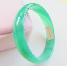 New Natural Green Agate Bangle Bracelet Size 58mm Diameter