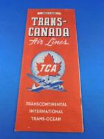TRANS CANADA AIRLINES TIMETABLE SCHEDULE TCA 1947 TRANSCONTINENTAL TRANS OCEAN