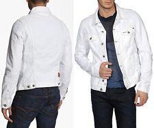 """$278 Diesel sz M Chest 41"""" Elshar White Denim Jacket Coat Men Industry Gift NWT"""