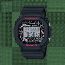 Casio Baby-G Graffiti Retro Digital Black Resin Ladies Watch BGD-560SK-1ER