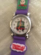 Kids Boys Purple Thomas The Tank Engine Wrist Watch Silicone Strap Steel Bck Sfn