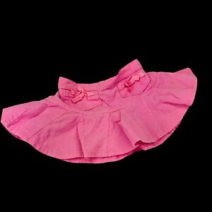 Build A Bear BABW Pink Corduroy Skirt Pleated Bow Clothing