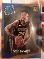 2017-18 Donruss Rated Rookie #182 John Collins Rookie RC Atlanta Hawks - QTY