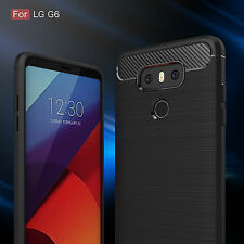 Handy Hülle für LG G6 Case Schale TPU dünn schwarz + 2.Haut +Armour Schocksicher