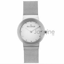 Skagen Authentic Watch 358SSSD Silver 28mm Freja Stainless Steel Mesh Women's