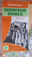 Große Karte der Sächsischen Schweiz 1 : 30 000. DDR dreisprachig dt engl russ