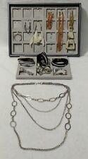 Lot Mixte bijoux fantaisie, 7 bracelets, 3 colliers, 3 paires boucles d'oreilles