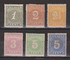 Nederlands Indie Indonesia 17-22 MLH Cijfer 1883 Netherlands Indies