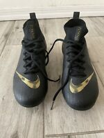 New Women's 5.5 Nike Mercurial Superfly 6 Elite FG Size Soccer Cleats Black Gold