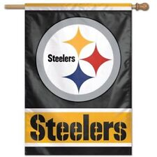 "Pittsburgh Steelers NFL 28""x40"" Vertical House Flag Banner"