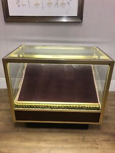 BEAUTILINE LARGE shop COUNTER display CABINET METAL GLASS FRONT TOP ILLUMINATED