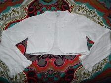 Girl's White Cardigan Sweater by Heirloom Size 10-12