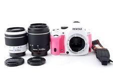 PENTAX K-50 16.3MP Caméra SLR Numérique Avec / Deux Lentille Set Par Fedex [