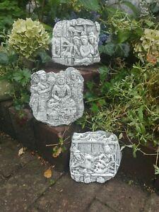 Steinf Relief Buddha angkor wat Tempel 15cm Wandbilder