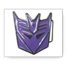 Transformers Decepticon Purple Metal Belt Buckle, NEW