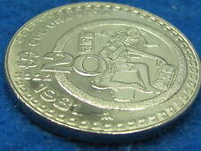 UNCIRCULATED large 1981  Cultural Maya commemorative Mexican coin combine ship