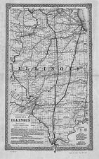 1861 IL MAP Collinsville Columbia Crest Hill Crestwood Crete Crystal Lake HUGE