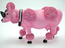 Cows on Parade French Moodle Retired Figurine Houston