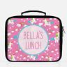 Personalised Unicorn & Rainbows Girls Lunch Box Lunch Cooler Sandwich School Bag