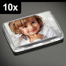 10x Premium Quality Clear Acrylic Blank Photo Fridge Magnets 50 x 35 mm