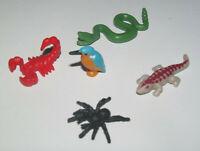 Playmobil Accessoire Lot x5 Animaux Serpent Scorpion Araignée Martin Pêcheur