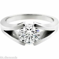 2.52ct Off White Moissanite Round Solitaire with Accents Ring 925 Silver Ring 03