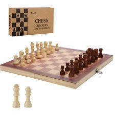 Schachspiel Schach Spielbrett 3 in1 Neu aus Olivenholz 29*29CM