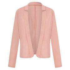 Women Open Front Coat Blazer Business Jacket Formal Suit Cardigan Plus Size 8-22